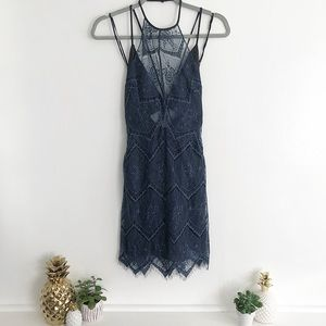 Free People Nothing Like This Lace Dress in Slate